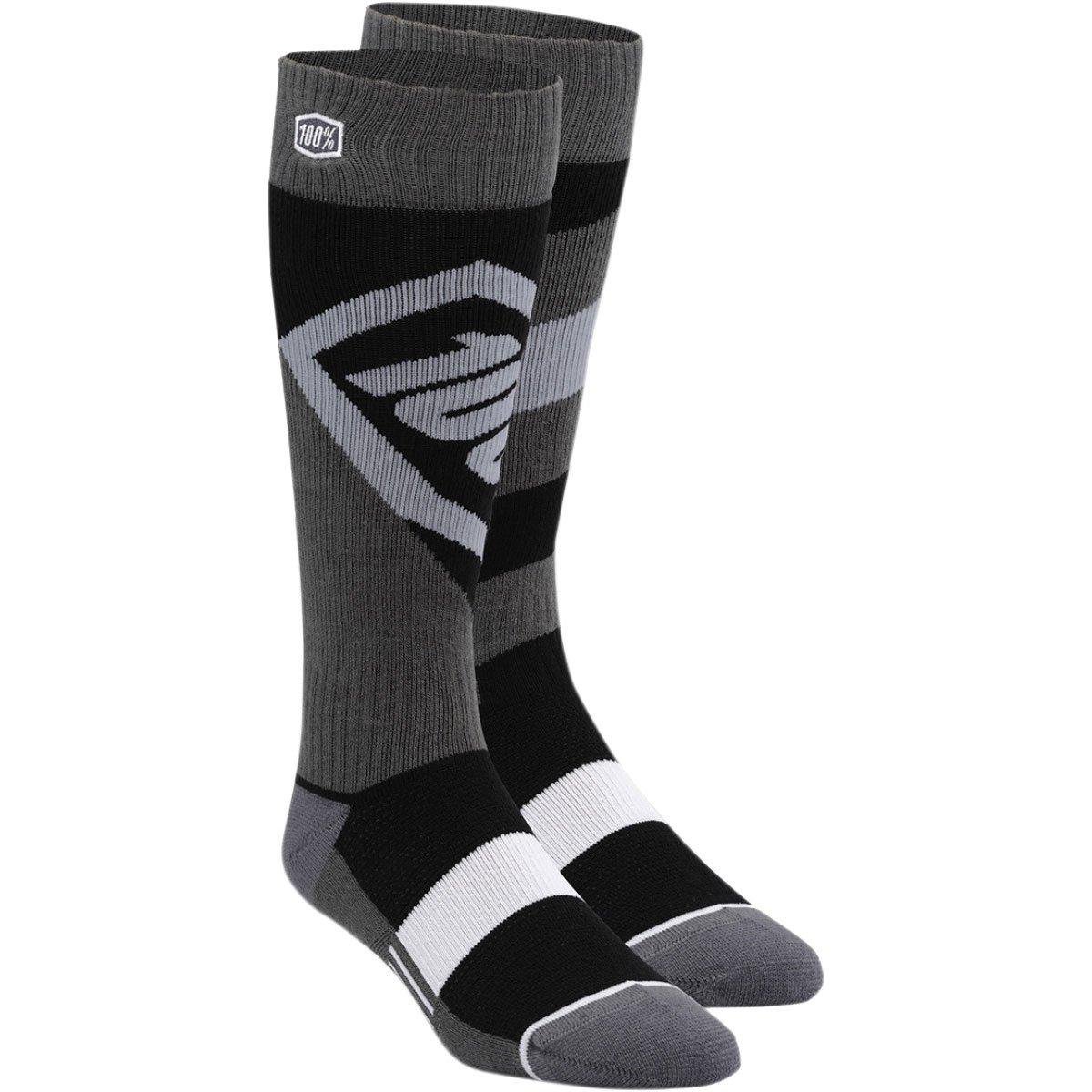 100% 24107-001-18 Unisex-Child Youth Torque 8'' Mid-Calf Riding Socks (Black,Large/X-Large)