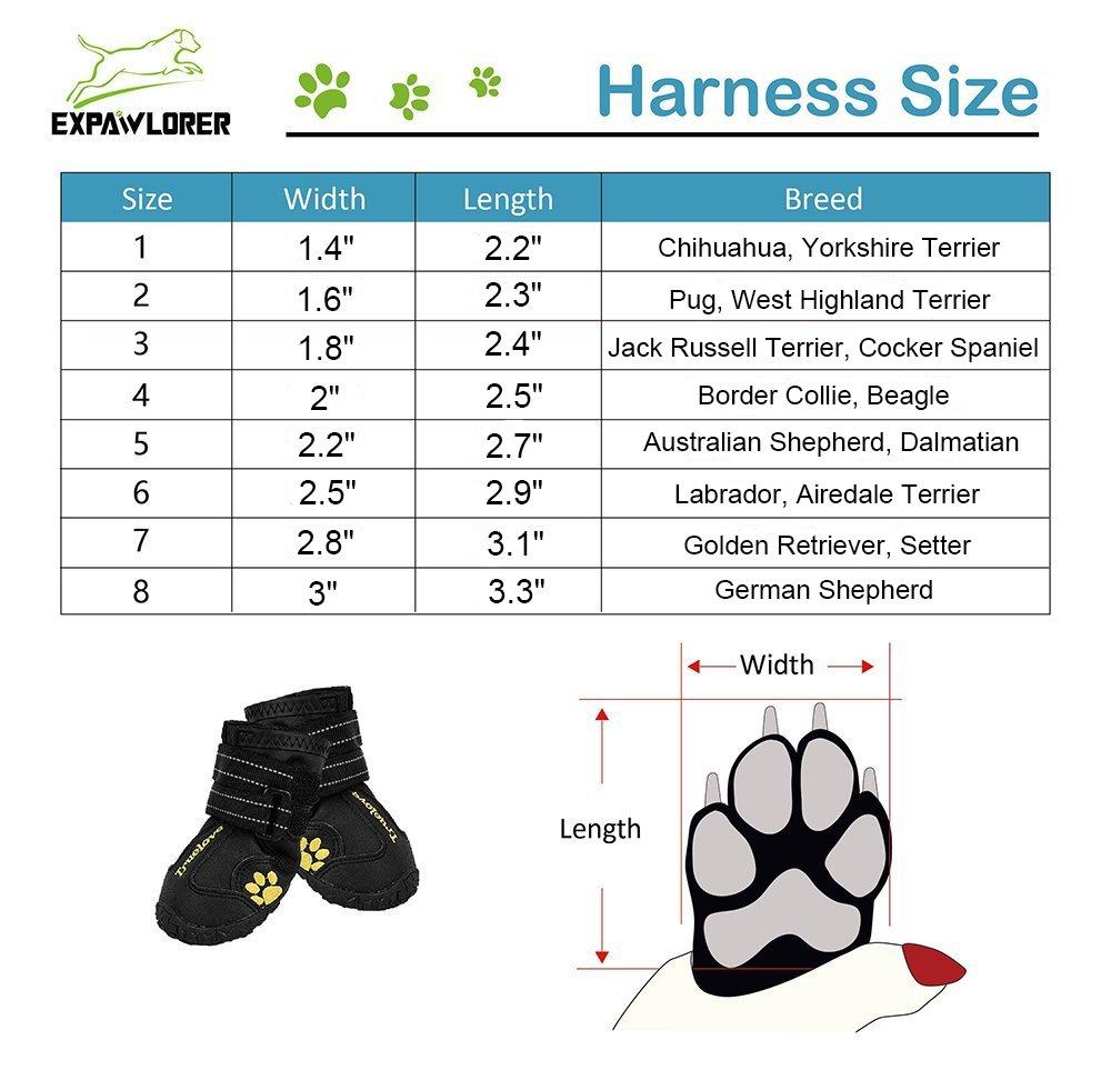 Amazon expawlorer waterproof dog boots reflective non slip amazon expawlorer waterproof dog boots reflective non slip pet booties for medium large dogs black 4 pcs pet supplies nvjuhfo Choice Image