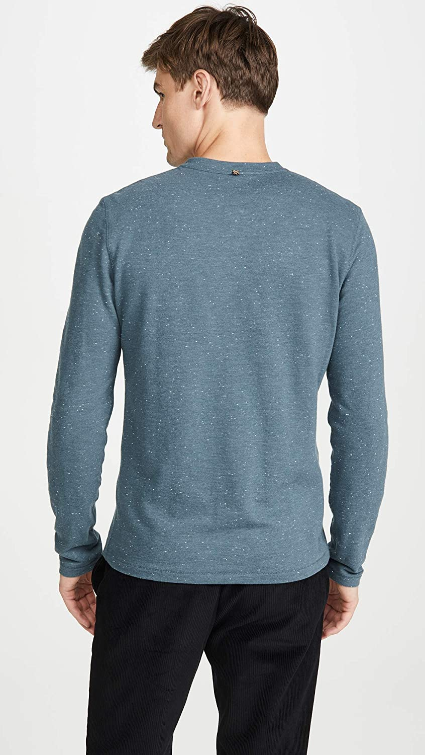 Billy Reid Mens Long Sleeve Donegal Terry Henley