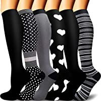 Compression Socks For Women&Men 1/3/6 Pairs - Best Medical for Running Athletic Flight Travel Circulation Recovery, 20…