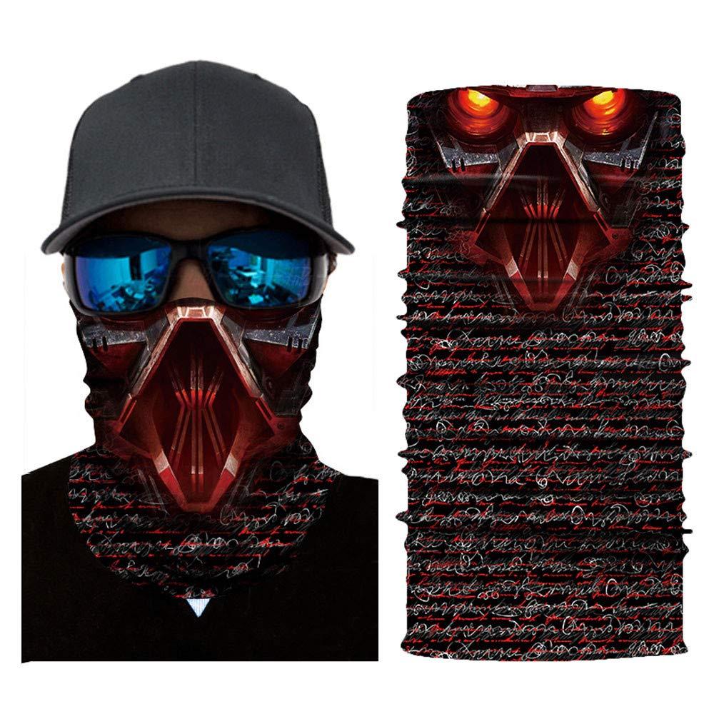 Voberry ネックゲイター 伸縮自在 フェイスシールドマスクガード 3Dフェイス サンマスク ヘッドウェア マジックスカーフ バラクラバ バンダナ キャンプ サイクリング バイキング オートバイ用ヘッドバンド  Animal Print Face Mask 2 B07JY8R5P4