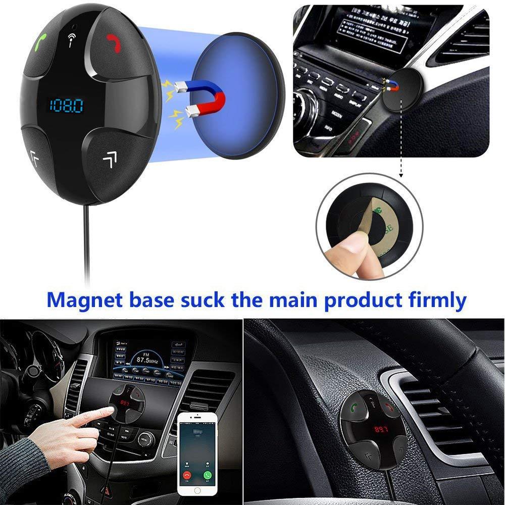Adaptador del kit del coche Manos libres Llamada transmisor Bluetooth 3.0 Manos libres Transmisor de FM receptor de Bluetooth