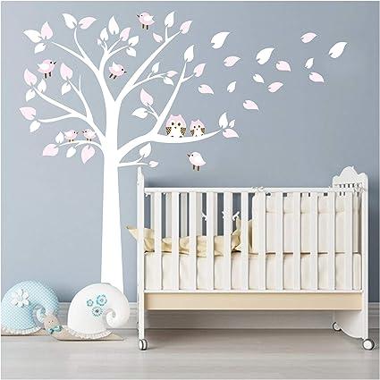 Tree /& Owl Wall Sticker Vinyl Beautiful Art Transfer Nursery Decor Cute Decal UK