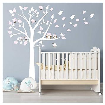 Bdecoll Kinderzimmer Wandtattoo Baum Mit Owls Wand Aufkleber Sticker