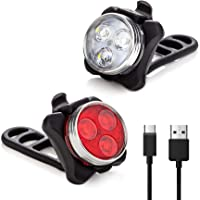 Vont 'Pyro' Bike Light Set, USB Rechargeable Super Bright Bicycle Light, Bike Lights Front and Back, Bike Headlight, 2X…