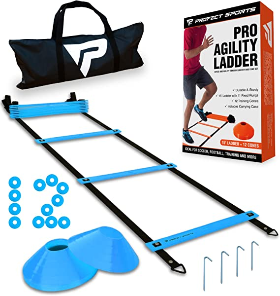 4-Meter 8 Ladders Flexibility Speeds Training Fitness Jumping Ladder Accesory Tool for Soccer Ball Football DEWIN Agility Ladder