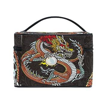 Amazon.com: Dragón chino bolsas de cosméticos organizador de ...