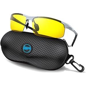 e540075663 BLUPOND Sports Sunglasses for Men Women - Anti Fog Polarized Shooting  Safety Glasses for Ultimate