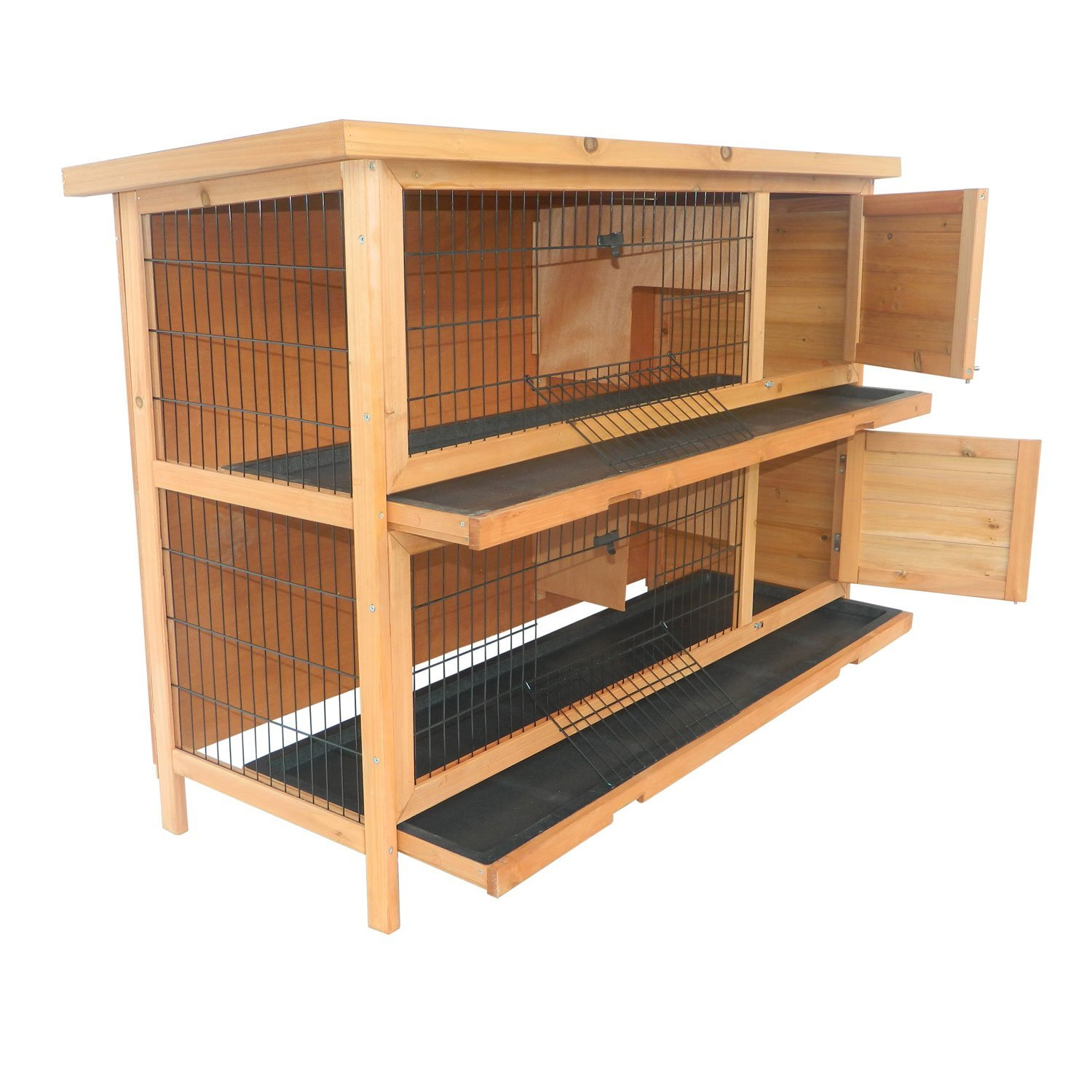 rabbit outdoor with hutches products handmade trixie peaked dp pet small com hutch sale garden amazon for roof