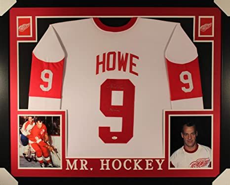 898d0d243 Gordie Howe Detriot Red Wings Autograph Signed Custom Framed Jersey MR  HOCKEY Inscribed JSA Certified at Amazon s Sports Collectibles Store