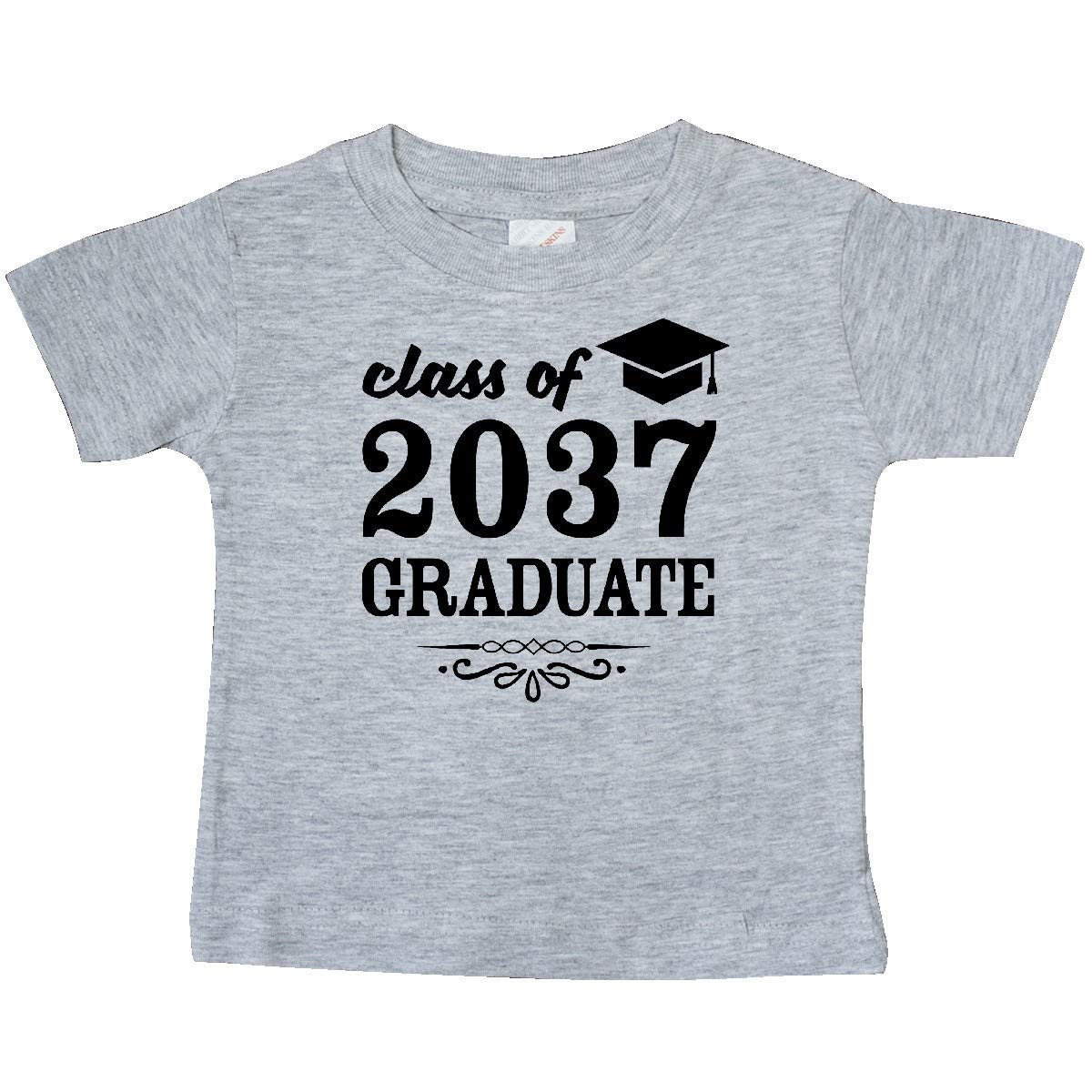 inktastic Class of 2037 Graduate with Graduation Cap Baby T-Shirt