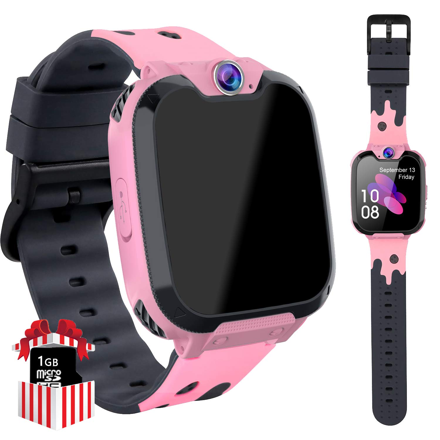 Kids Smartwatch without SIM for Girls Boys - 7 Games Children Touch Screen Wrist Watch Phone with SOS Call Camera Music Player Calculator 12Hrs ...