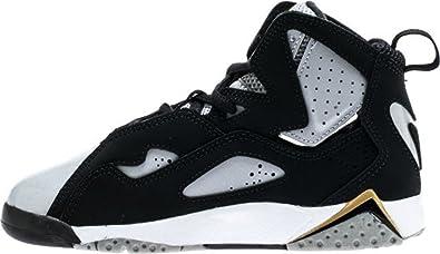 a378c91c2bbe3 Jordan Nike 343796-005 True Flight Basketball Shoe Kid Grey/Blue