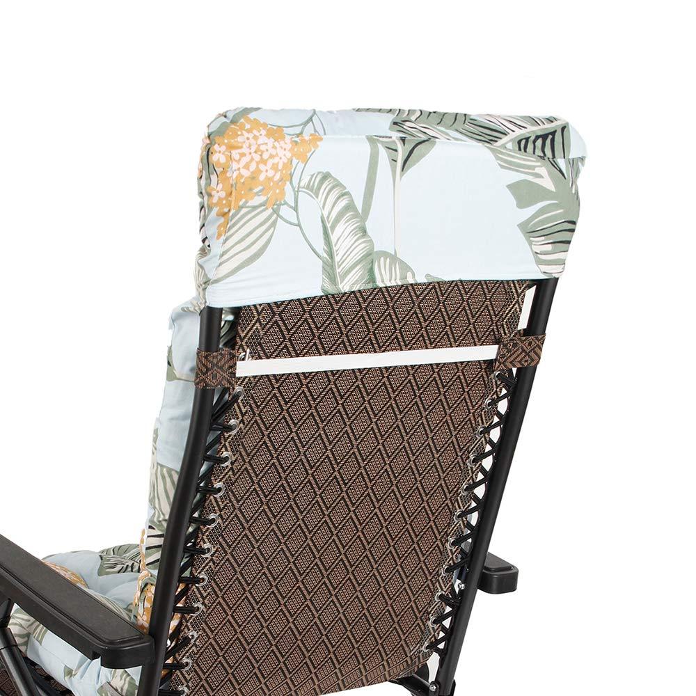 Jardin Fauteuil Relax /épais Outdoor Assise 170 53 7 CM Vert Coussin Chaise Longue Anti-d/érapant pour Lounge Fauteuil Chaise Transat oceanheart Coussin Bain de Soleil