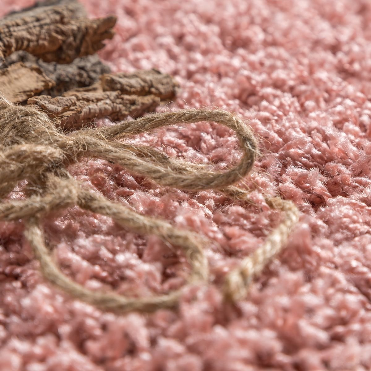 T&T Design Moderner Moderner Moderner Hochflor Teppich Shaggy Einfarbig Dicht Gewebt Qualität Pink, Größe 140x200 cm d4cd83