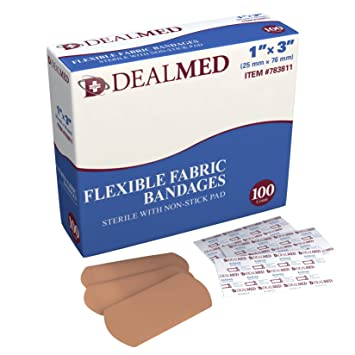 """Review Adhesive Bandages, 1"""" x"""