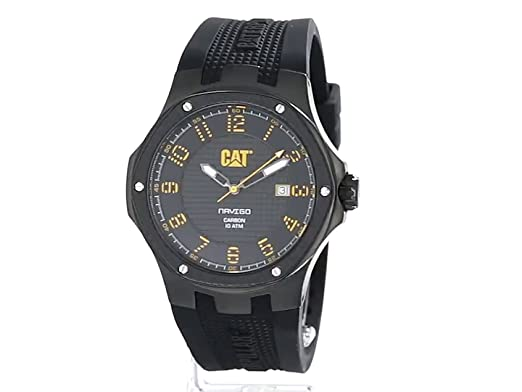 Amazon.com: CAT WATCHES Mens A516121111 Carbon Analog Display Quartz Black Watch: CAT WATCHES: Watches