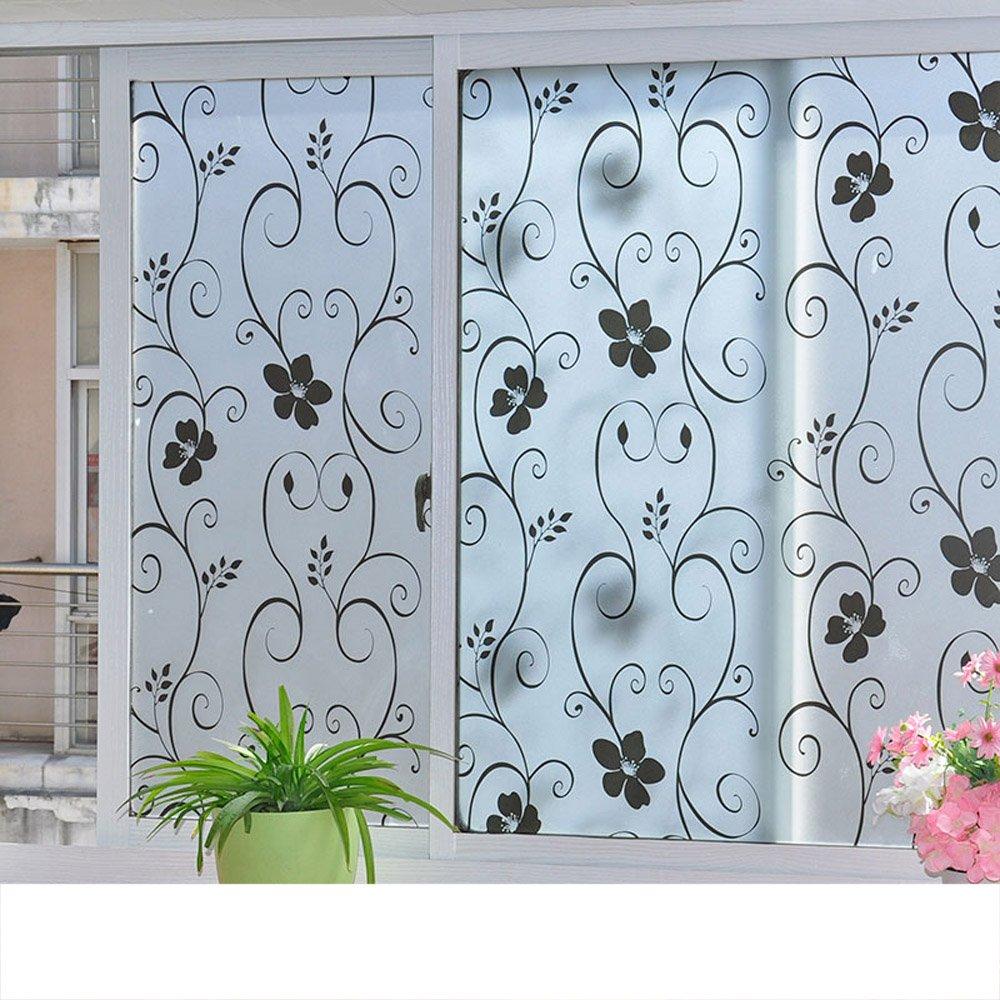 YETUGE 静電窓ガラス ステンドグラス 窓 ガラスフィルム  窓 目隠しシート ガラスシート 装飾フィルム プライバシー対策 透明 UVカット 飛散防止 B07DFVG185 90*1800CM|3 3 90*1800CM