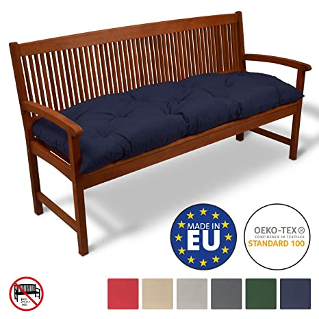 Magnificent Beautissu Bench Pad Flair Bk Comfortable Cushion 150 X 50 X 50 Cm Swing Or 3 Seater Bench Cushion Dark Blue Creativecarmelina Interior Chair Design Creativecarmelinacom