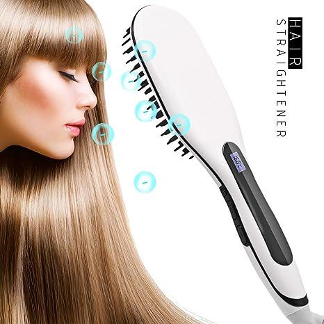 Cepillo eléctrico alisador de pelo, alisador de pelo profesional, con control de