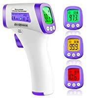 Infrared Thermometer for Adults, Non Contact Forehead Thermometer with Fever Alarm...
