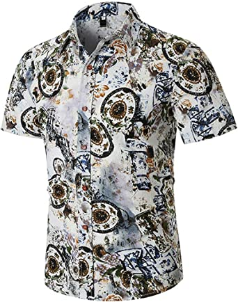 EverNight Camisa De Talla Grande para Hombre Moda Hawaii 3D ...