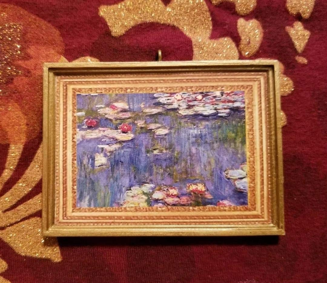 Dollhouse Miniature Claude Monets Water Lilies 1916 Without a Bail.
