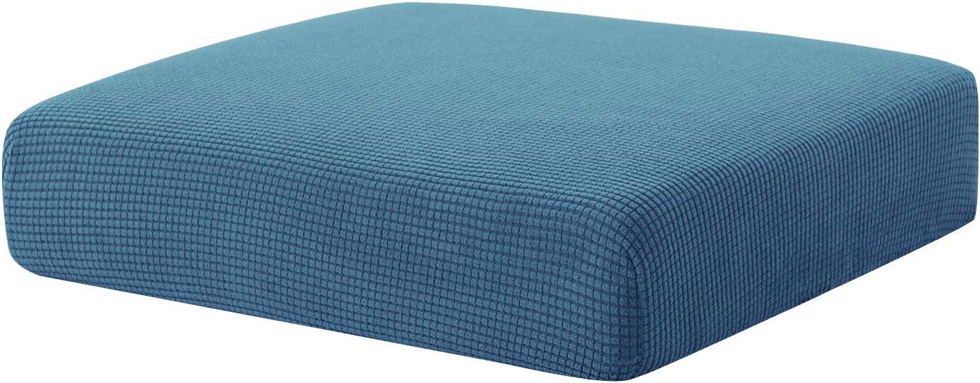 Hokway Couch Cushion Slipcovers Sofa Cushion Covers Jacquard Stretch Cushion Protectors(Denim Blue,Chair Cushion)