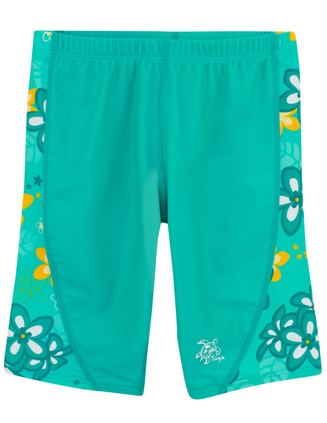 Tuga Girls Swim Jammer Short 2-14 Years, UPF 50+ Sun Protection Board Short Plangea