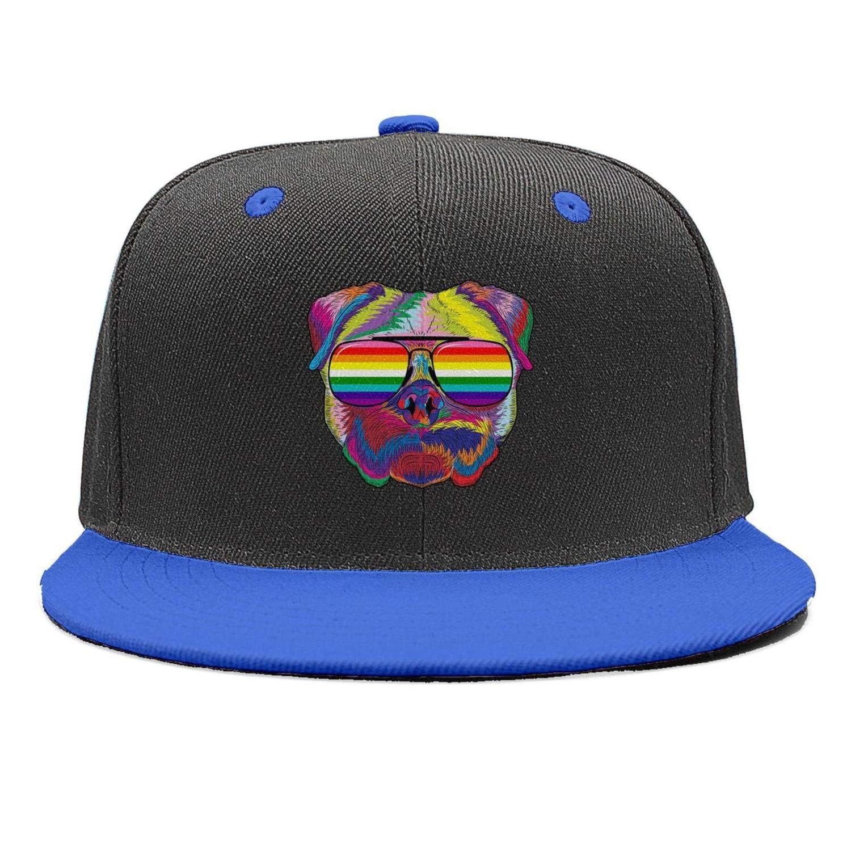 SDHAK Gay Homosexual Lesbian Rainbow Lips Pride Hip Hop Trucker Hats Men Women Flat Bill Baseball Caps Summer Hats