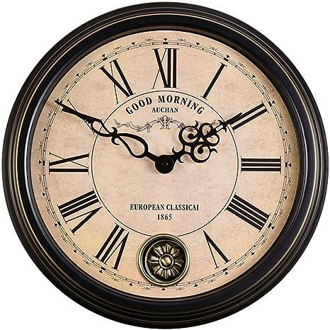 KUN Horloge Exterieure Etanche Horloge dExt/éRieur Vintage pour Jardin Horloge de Jardin /éTanche de 30 cm avec