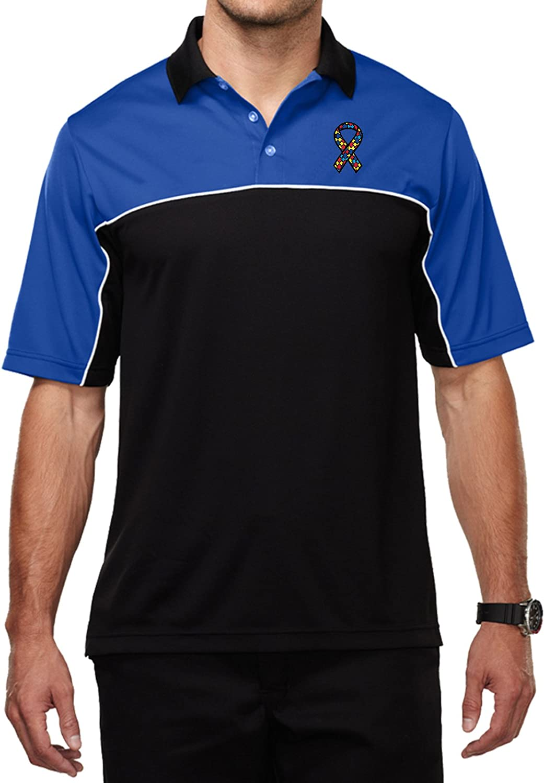 Buy Cool Shirts Autism Ribbon Pocket Print Mens Polo Shirt