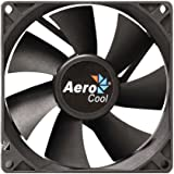 Aerocool Dark Force 9cm 7 Blades Fan with Anti Vibration Screws - Black (Retail Packaging)