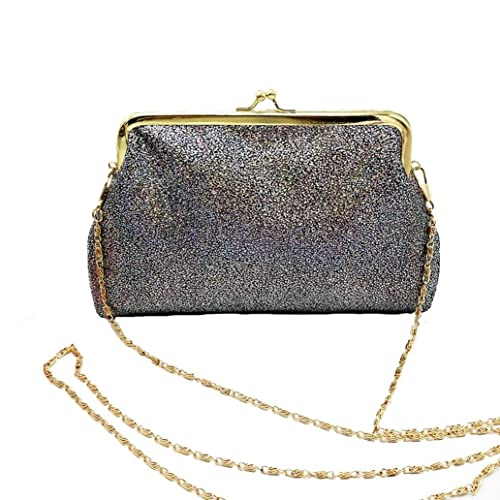 8c419d459ef7 Clearance! Women Small Shining Sparkling Hasp Wallet Purse Clutch Bag  (Black)