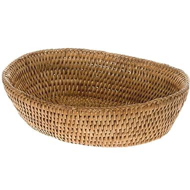 KOUBOO 1020034 La Jolla Rattan Bread Bowl, Honey Brown, 9.5  x 8  x 2.5