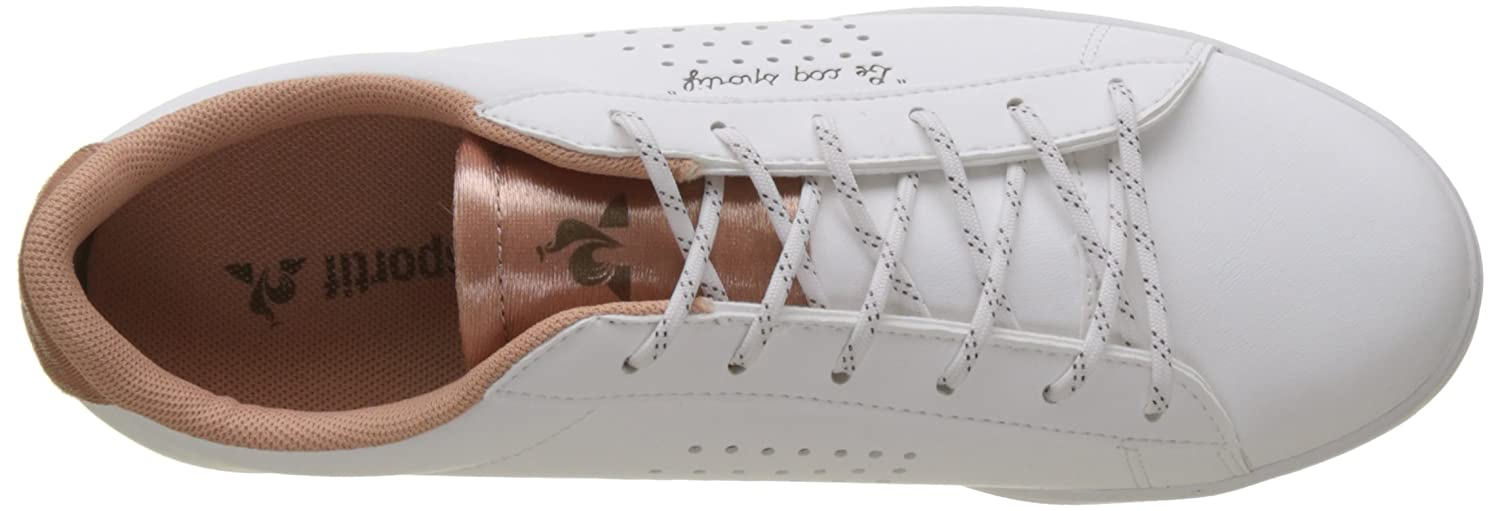 Amazon.com: Le Coq Sportif Womens Agate Sport Optical White/Dusty Coral Trainers: Shoes