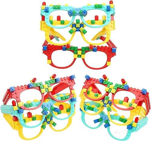 GearRoot DIY Building Blocks Glasses Baseplate Party Favors