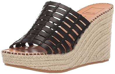 aff58a8f81 Dolce Vita Women's Prue Wedge Sandal Black Leather 5 ...
