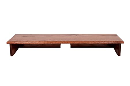 RED OAK STAINED SOUND BAR TV RISER 40 WIDE X 12 DEEP X 5 1 2 HIGH -Solid, real wood, Safe TV Riser