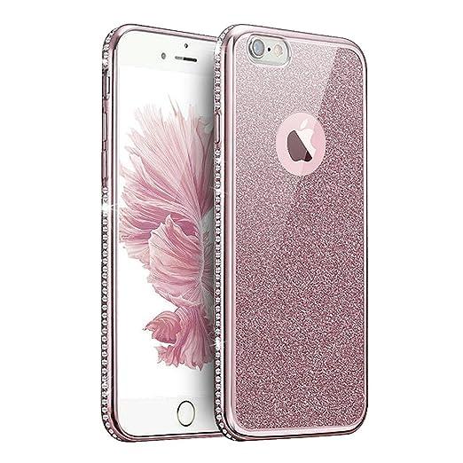 2 opinioni per Custodia Cover iPhone 7/8,Ukayfe confine di placcatura Design Crystal Clear