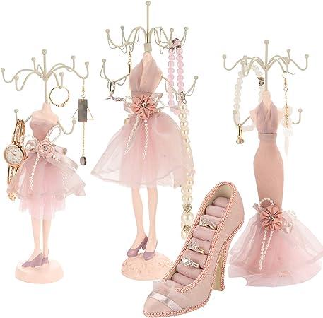 Porte bijoux bagues chaussure escarpin rose