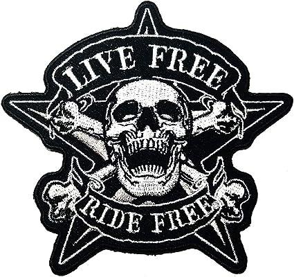 Angel Skull Biker patch écusson sticker Blouson flammes Chopper StreetBike Bounce