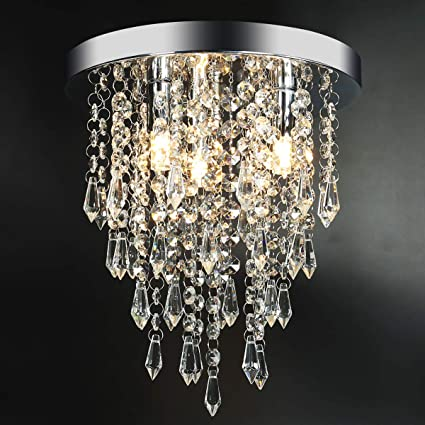 Amazon.com: Lámpara de techo con 3 luces de cristal para ...