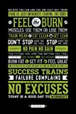 empireposter - Motivational - Gym - No Excuses - Größe (cm), ca. 61x91,5 - Poster, NEU -