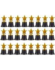Star trofeos – Pack de 12 Mini Star premios trofeos de plástico, para niños,