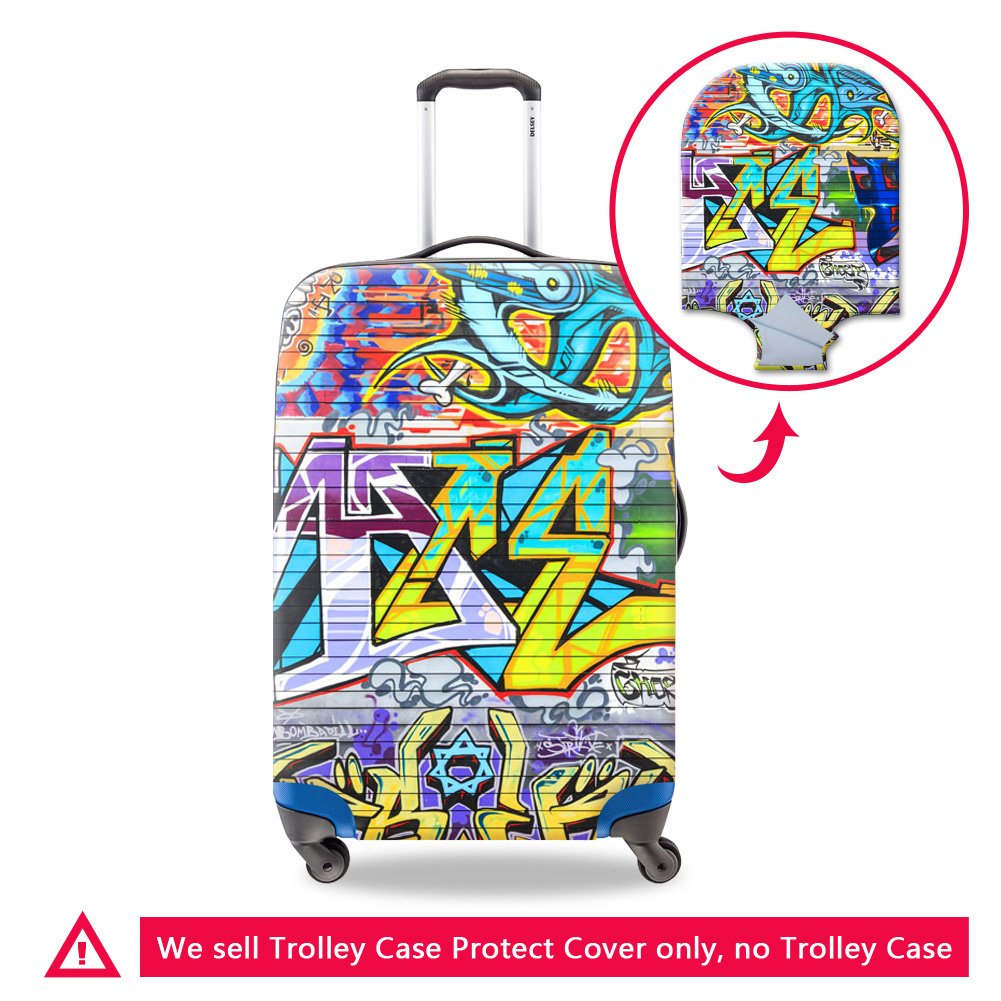 Creativebags Spandex Travel Suitcase Cover Fit 18-30 Inch Trolley Case 3D printing