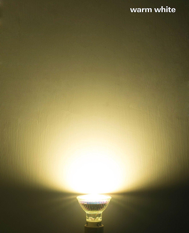 GEL 4X GU10 1.5 W Bombilla LED,Bombillas LED,21SMD,Proyector de plš¢stico,Flujo luminoso 120,15W Halš®gena de luz,Blanco cš¢lido 3000 Kelvin,?ngulo de haz ...