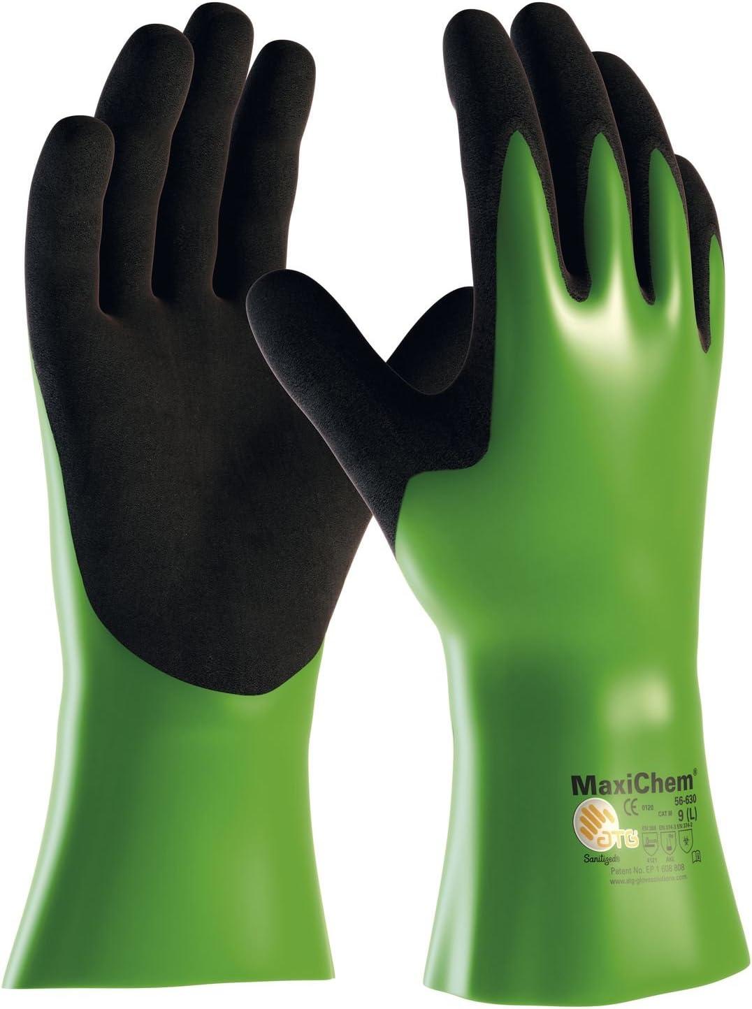 Guantes de protección química STAFFL johanesburgo MaxiChem 630 EN 374 categoría III, gran 10, 131915