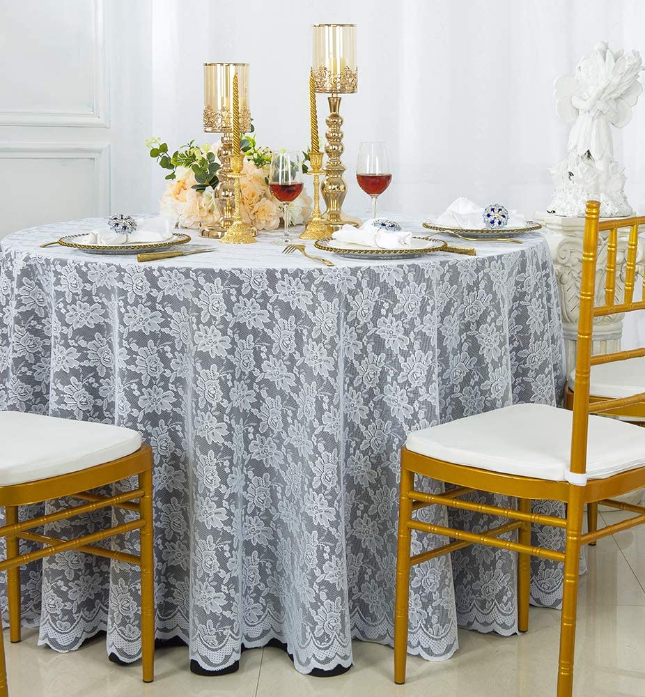 """8 PACK 108/"""" inch ROUND Tablecloth LOT 100/% Polyester Overlay 23 Colors *SALE*"""