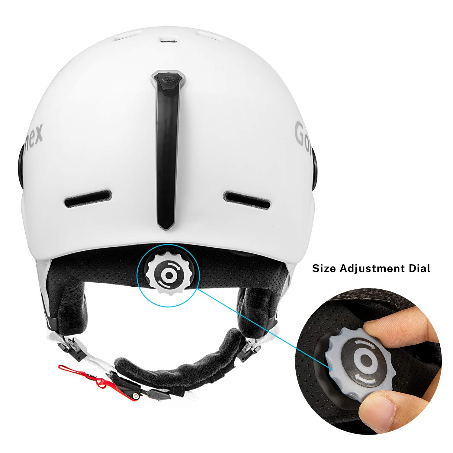 S//M//L Size Accessories Included Winter Snowboard Windproof Skiing Helmet for Men Women /& Young Gonex ASTM Certified Ski Helmet with Detachable Goggles